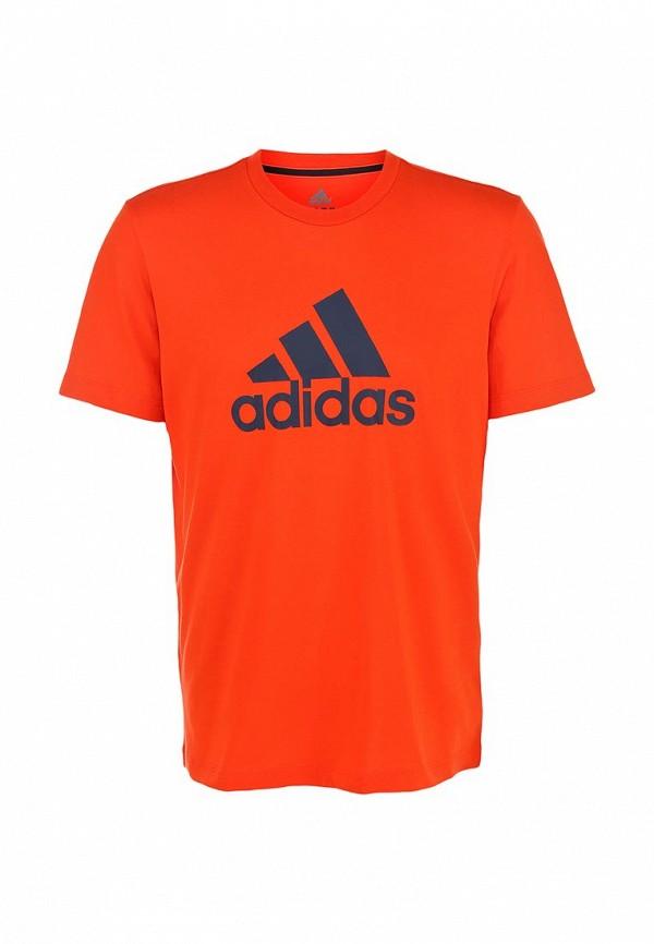 Футболка с надписями Adidas Performance (Адидас Перфоманс) M67503: изображение 2