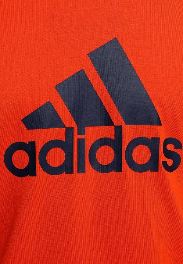 Футболка с надписями Adidas Performance (Адидас Перфоманс) M67503: изображение 4
