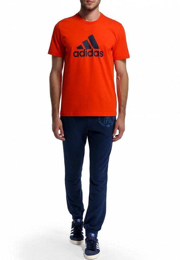 Футболка с надписями Adidas Performance (Адидас Перфоманс) M67503: изображение 6