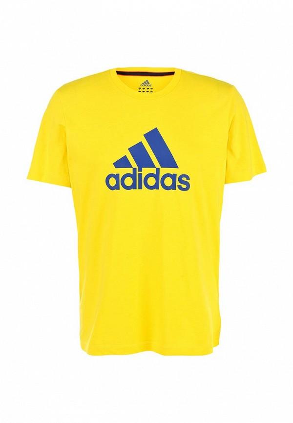 Футболка с надписями Adidas Performance (Адидас Перфоманс) M35964: изображение 2