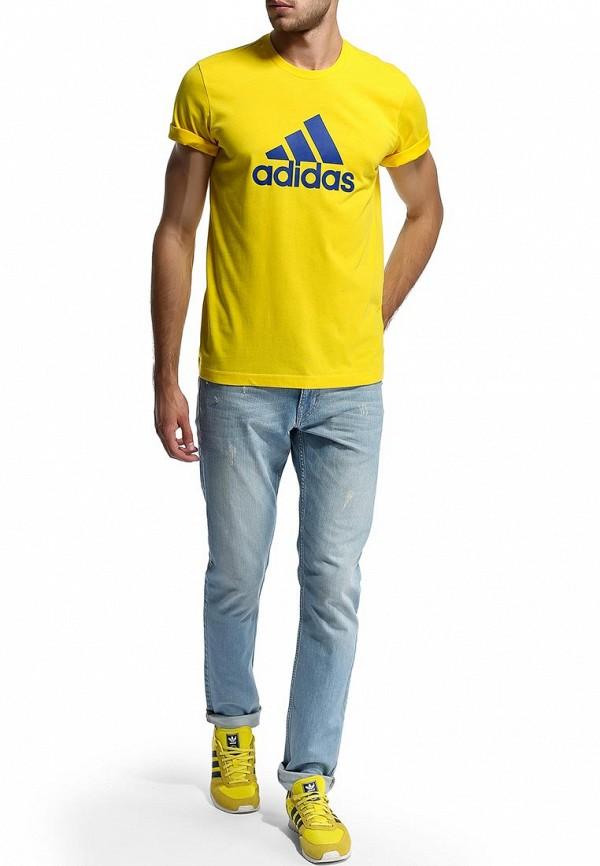 Футболка с надписями Adidas Performance (Адидас Перфоманс) M35964: изображение 6