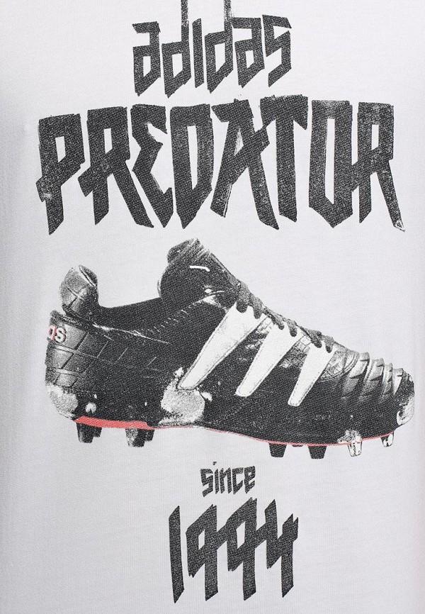 Футболка с надписями Adidas Performance (Адидас Перфоманс) M68863: изображение 4