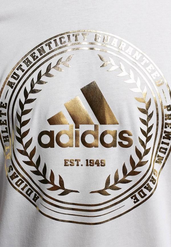 Футболка с надписями Adidas Performance (Адидас Перфоманс) M68935: изображение 4