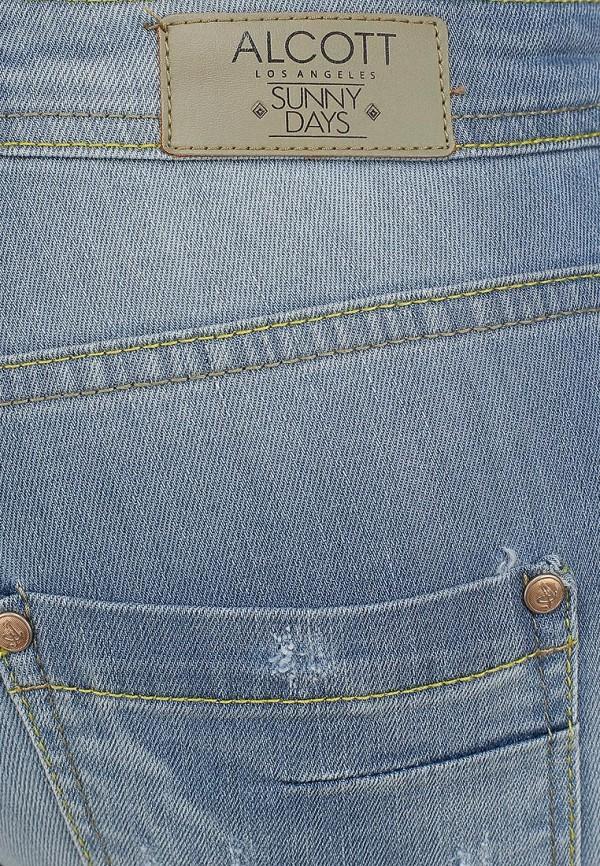 Зауженные джинсы Alcott 5T2132DOL C293 AZZURRE: изображение 4