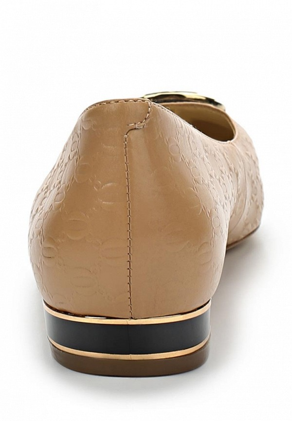 фото Балетки на каблуке ALLA PUGACHOVA by Эконика AL008AWBFX86, бежевые