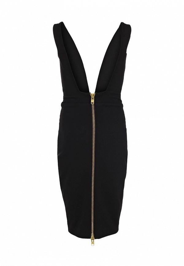 Вечернее / коктейльное платье Aqua by Aqua Hackford Plunge Neck Mini Dress: изображение 2