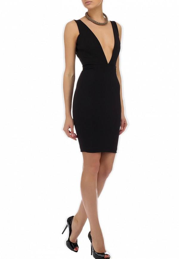 Вечернее / коктейльное платье Aqua by Aqua Hackford Plunge Neck Mini Dress: изображение 4
