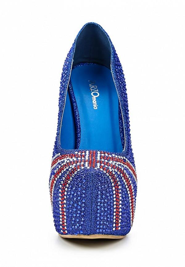 фото Туфли на платформе и каблуке ARZOmania AR204AWBDO62, синие со стразами