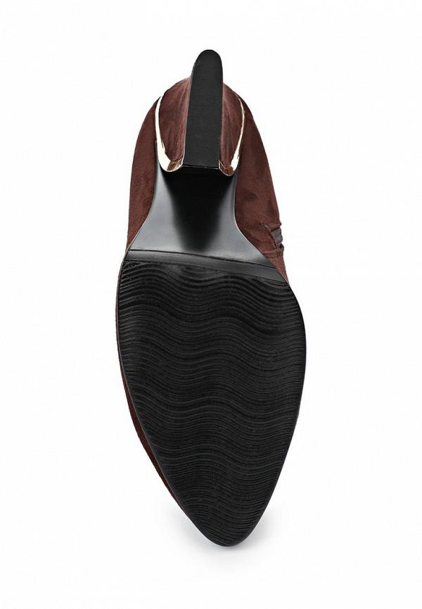 фото Ботильоны на толстом каблуке ARZOmania AR204AWBDO73, коричневые (замша)
