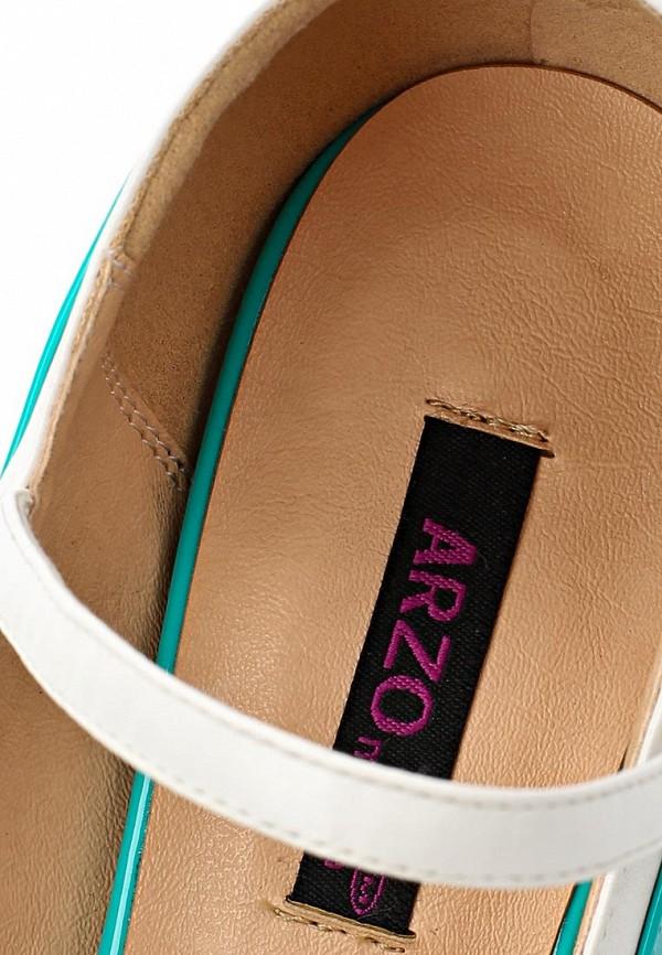 фото Туфли на шпильке и платформе ARZOmania AR204AWBDO83, бирюзовые (лак)