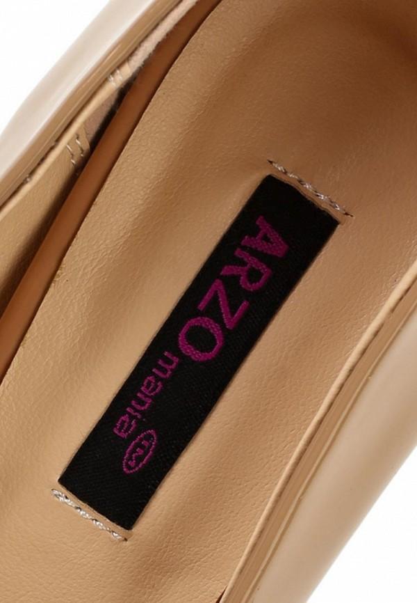 фото Лаковые туфли на каблуке ARZOmania AR204AWBDO95, черно-бежевые (кожа)