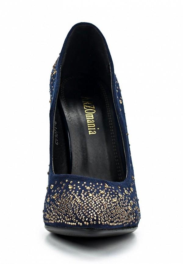 фото Туфли на высоком каблуке-шпильке ARZOmania AR204AWBDP44, синие/стразы