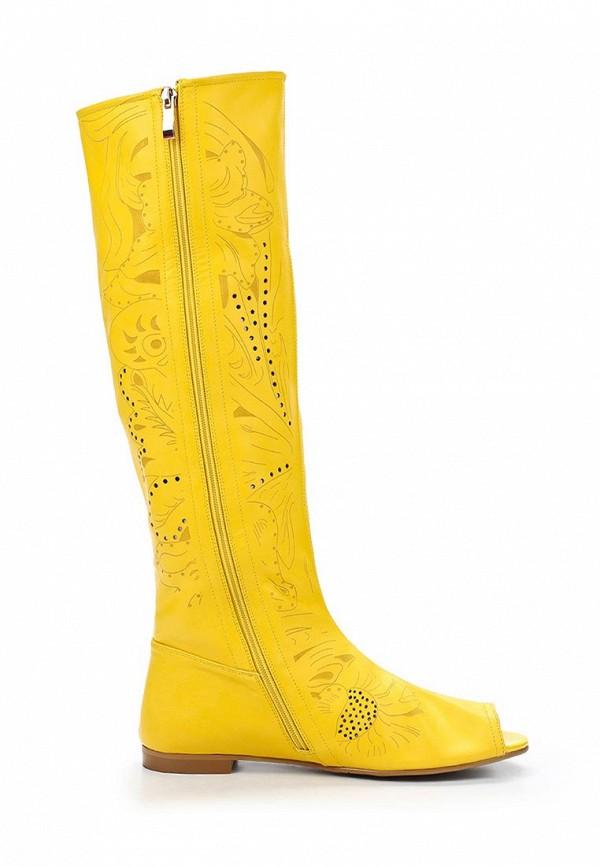 фото Сапоги женские летние ARZOmania AR204AWBDP70, желтые с открытым носом