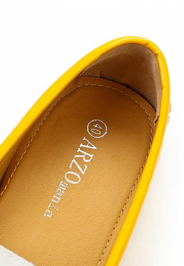 фото Мокасины женские ARZOmania AR204AWBDP78, желтые с белым