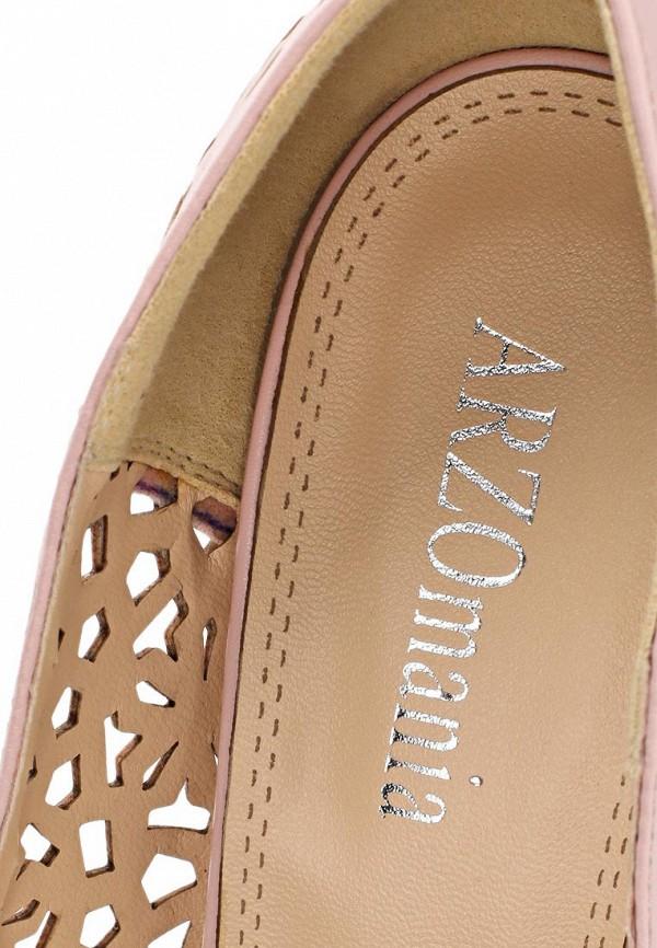 фото Туфли на платформе с открытым носом ARZOmania AR204AWBMJ00, розовые