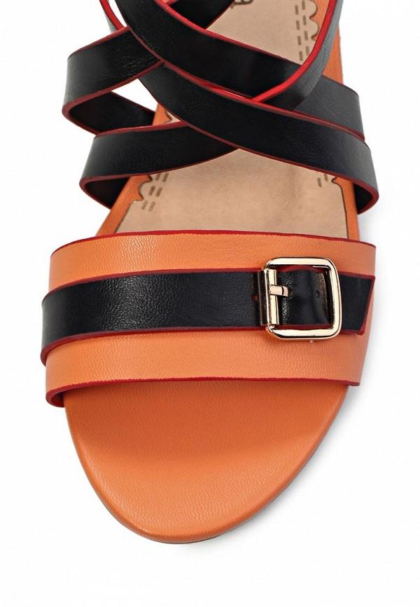 фото Сандали женские ARZOmania AR204AWGT599, черно-оранжевые
