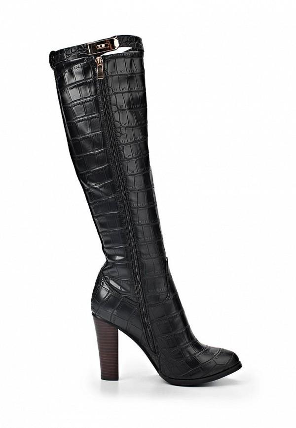 фото Сапоги женские на каблуке ARZOmania AR204AWJL071, черные кожаные