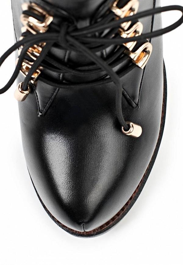 фото Ботильоны на каблуке ARZOmania AR204AWJL142, черные со шнуровкой