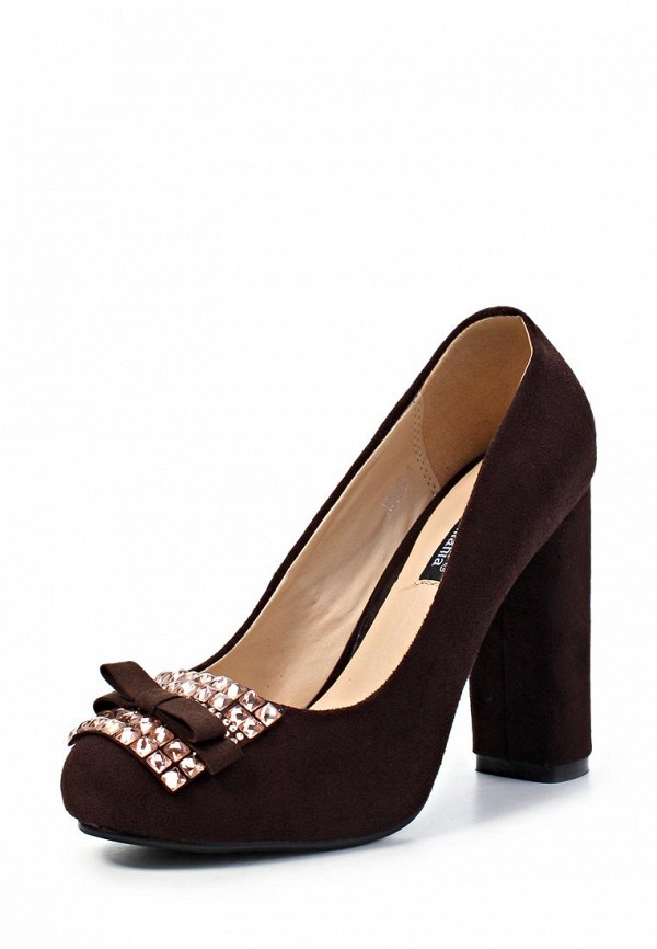 фото Туфли на толстом каблуке ARZOmania AR204AWJL309, коричневые