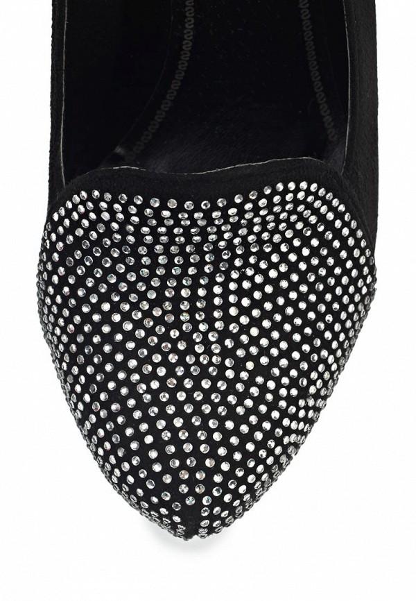 фото Туфли женские на калуке ARZOmania AR204AWJL382, черные со стразами