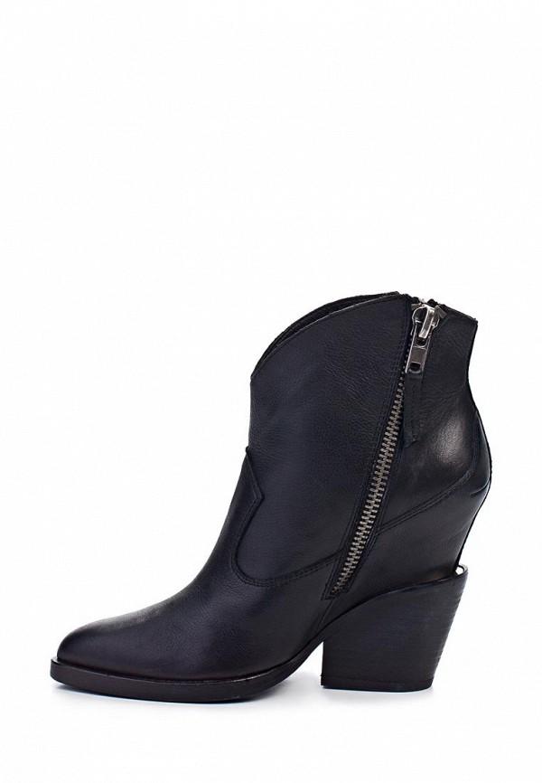 фото Ботильоны женские на толстом каблуке Ash AS069AWAGN79, черные