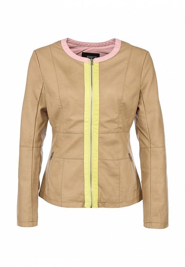 Куртка кожаная Baon BA007EWAYJ81. Цвет: бежевый