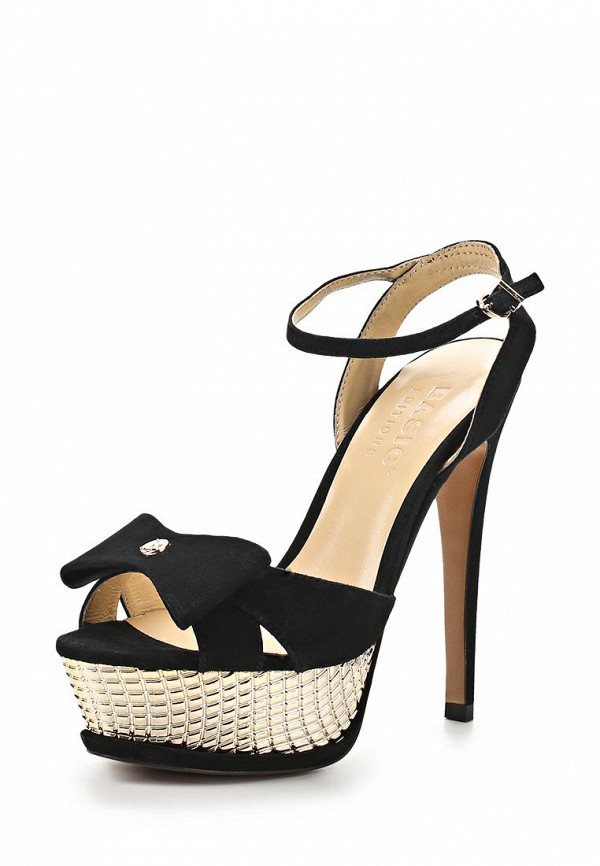 Босоножки на каблуке Basic 68982: изображение 1