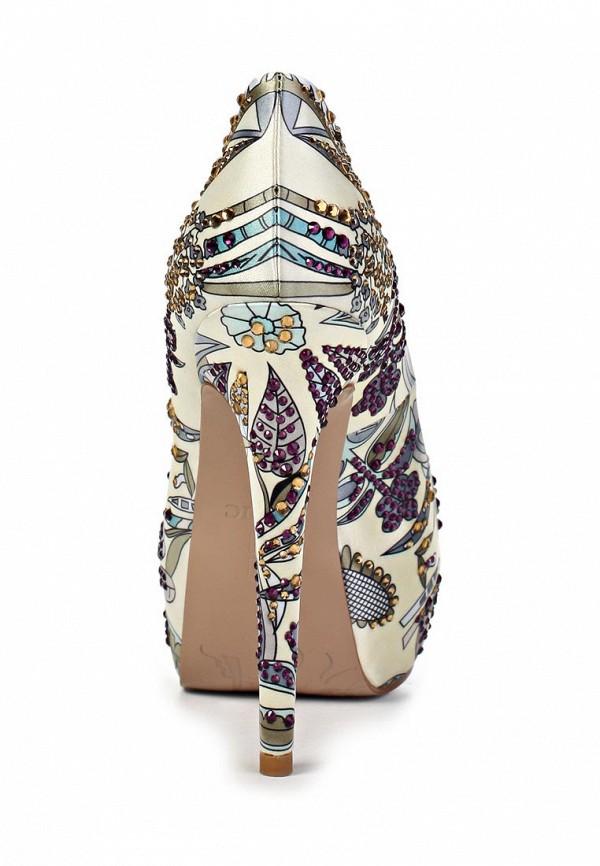 фото Туфли на платформе и каблуке Basic BA009AWAAO08, цветные с открытым носом