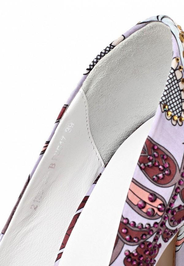 фото Туфли на платформе с открытым носом Basic BA009AWAAO09, цветные/каблук