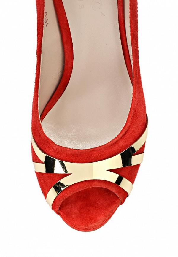 фото Туфли на платформе и высоком каблуке Basic BA009AWAAO16, красные