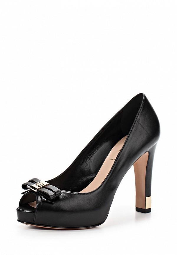 фото Туфли на каблуке с открытым носом Baldinini BA097AWAKO55, черные кожаные