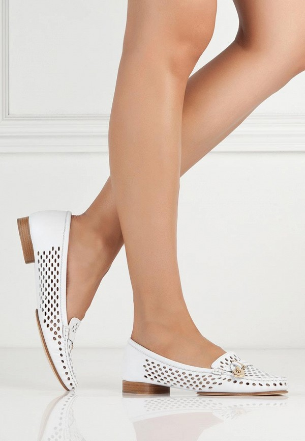 фото Лоферы женские Baldinini BA097AWAKO92, белые/каблук