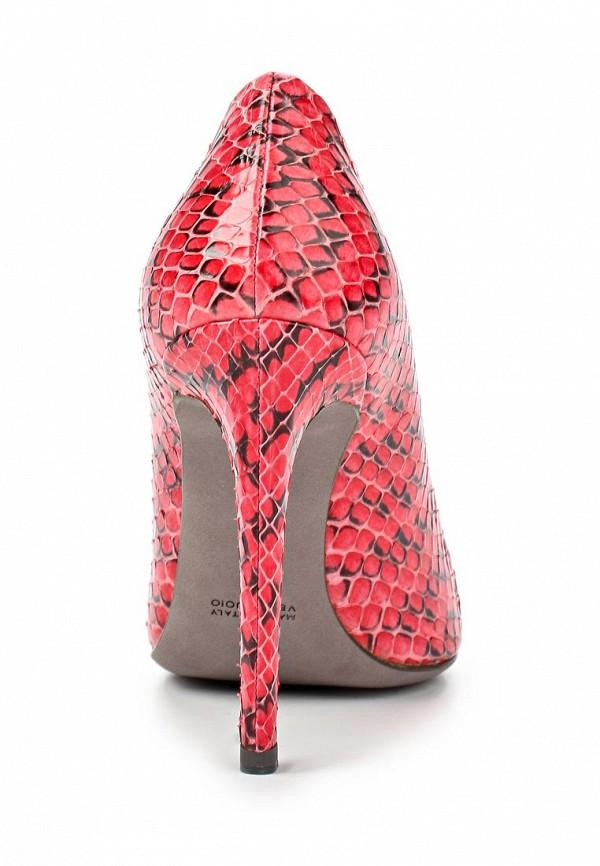 фото Женские туфли на каблуке Baldan BA519AWARI15, красные (кожа змеи)