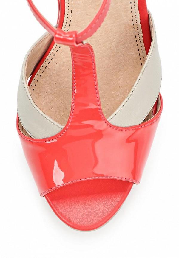 фото Босоножки на платформе Betsy BE006AWAKM78, бежево-красные/каблук