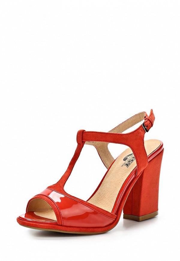 фото Босоножки на толстом каблуке Betsy BE006AWAKM84, красные кожаные