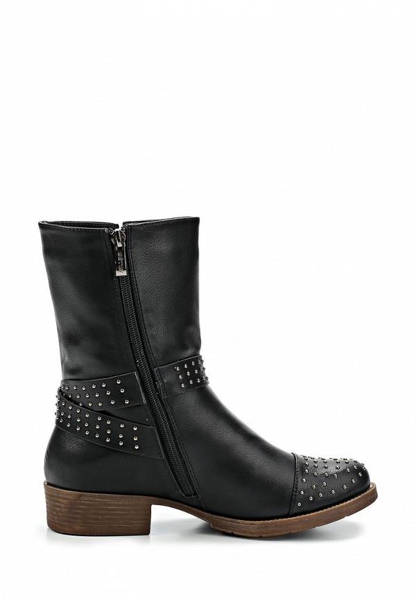 фото Женские полусапожки на низком каблуке Betsy BE006AWCGM81, черные