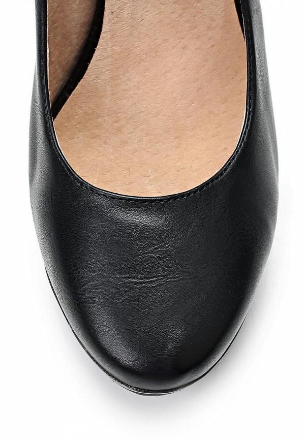 фото Туфли на толстом каблуке Betsy BE006AWCGO69, черные кожаные