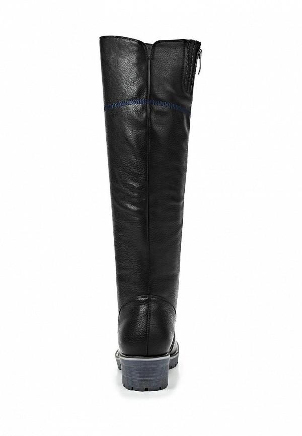 фото Сапоги женские на низком каблуке Betsy BE006AWCGP29, черные (кожа)