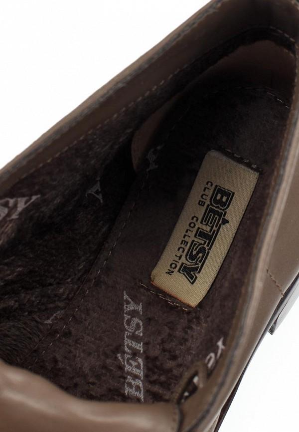 фото Ботинки женские на каблуке Betsy BE006AWCGQ51, коричневые кожаные