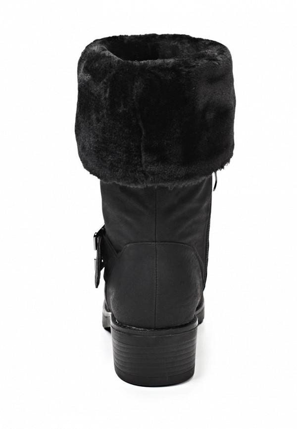 фото Женские полусапожки на каблуке Betsy BE006AWDA197, черные с опушкой
