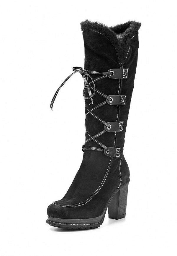 фото Сапоги женские на каблуке Betsy BE006AWEA009, черные со шнуровкой