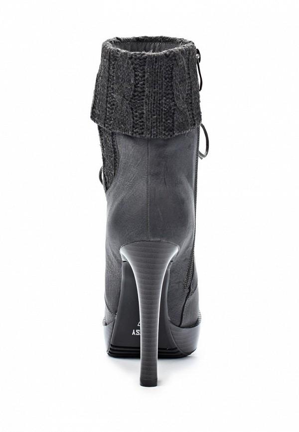 фото Ботильоны на платформе и каблуке Betsy BE006AWJJ870, серые/шнурки
