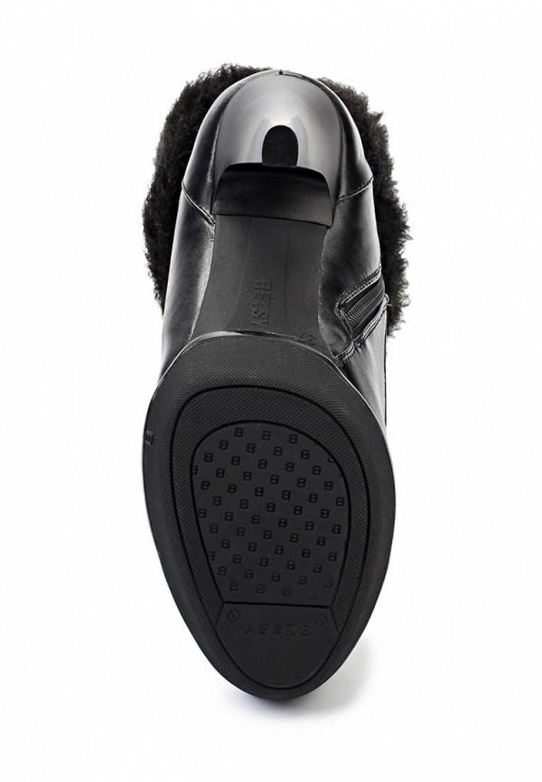 фото Женские полусапожки на высоком каблуке Betsy BE006AWJJ898, черные