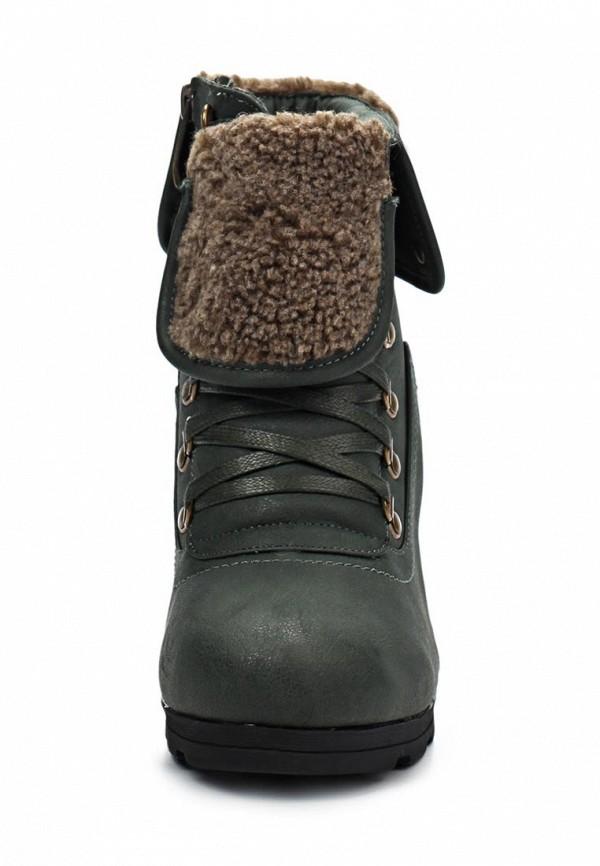 фото Ботильоны на толстом каблуке Betsy BE006AWJK033, зеленые со шнуровкой