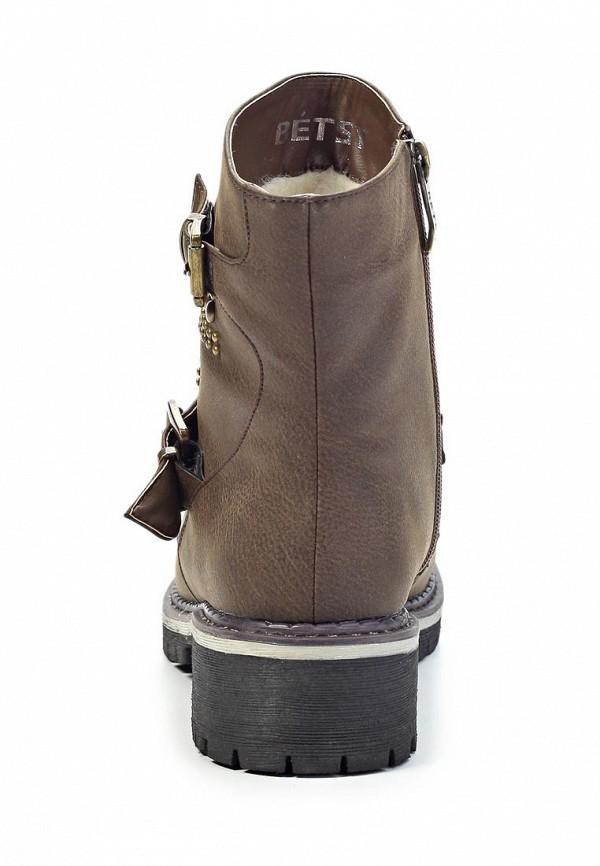 фото Женские полусапожки на низком каблуке Betsy BE006AWJK039, коричневые