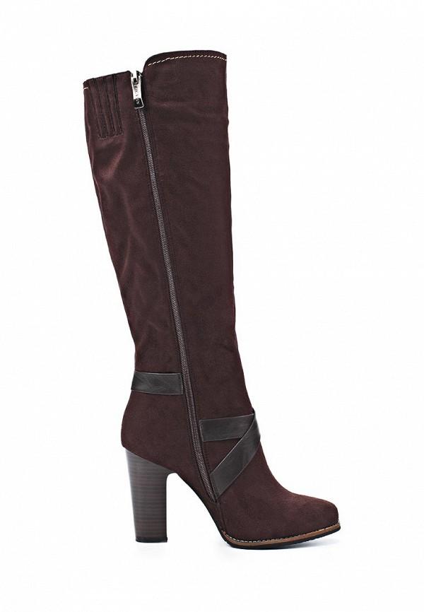 фото Сапоги женские на каблуке Betsy BE006AWJK122, коричневые (замша)