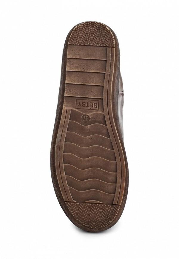 фото Сапоги женские на плоской подошве Betsy BE006AWKT393, коричневые
