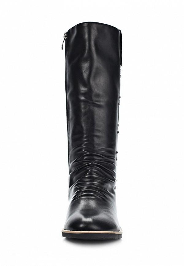 фото Сапоги женские на плоской подошве Betsy BE006AWKT409, черные (кожа)