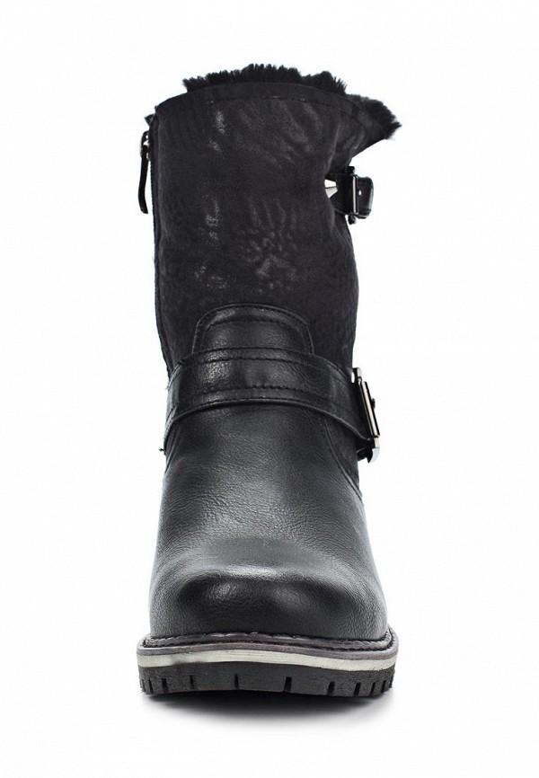 фото Женские полусапожки на низком каблуке Betsy BE006AWKT412, черные