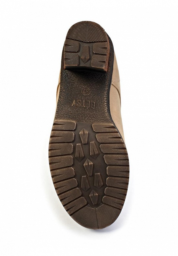 фото Ботильоны на толстом каблуке Betsy BE006AWKT419, бежевые/шнурки